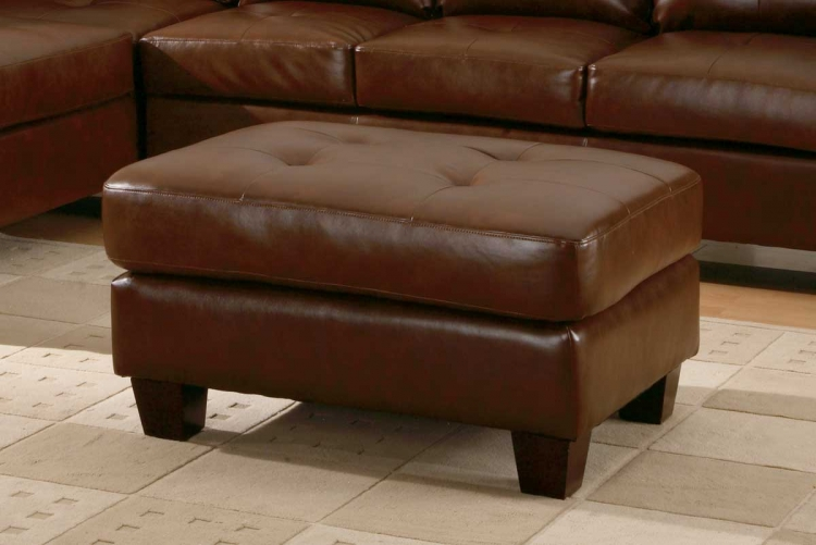 Morgan Ottoman Brown-Homelegance