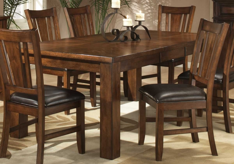 Fusion Dining Table-Dark Oak-Homelegance