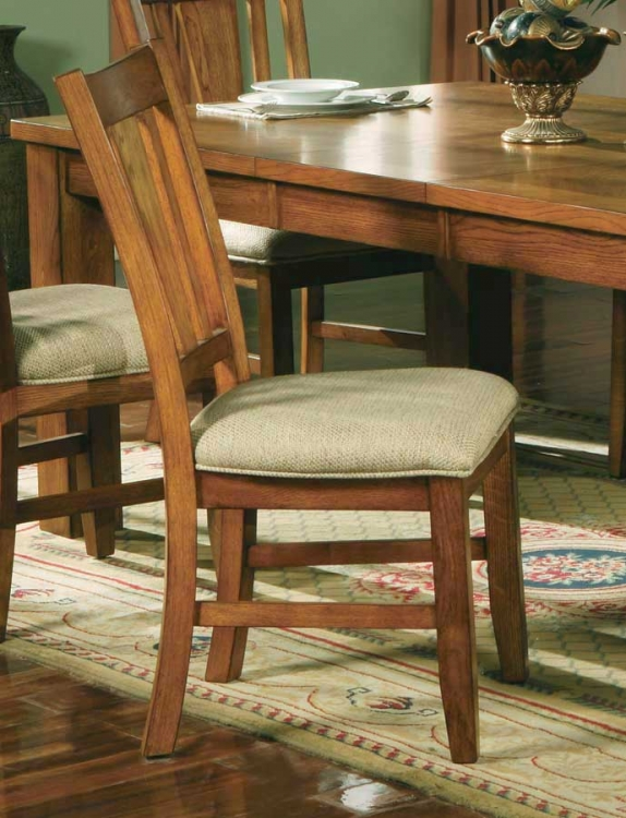 Fusion Side Chair-Fabric Seat-Light Oak-Homelegance