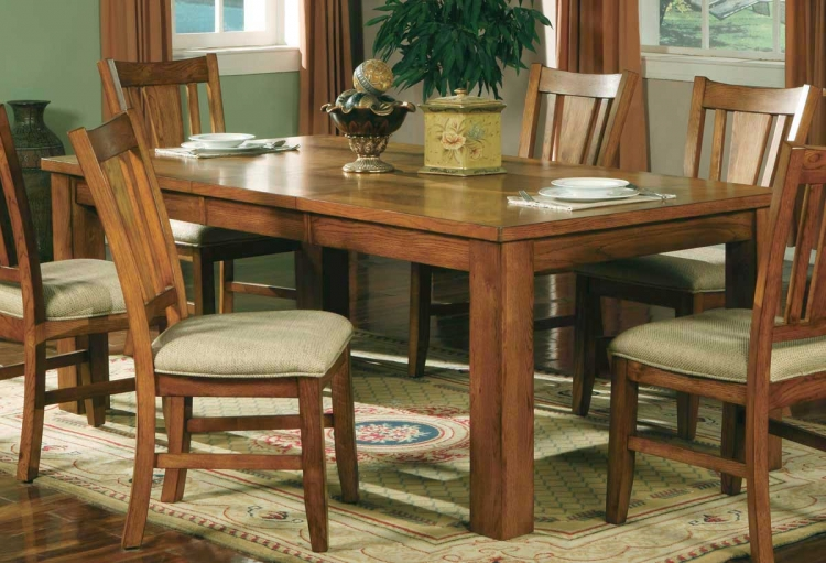 Fusion Dining Table-Light Oak-Homelegance