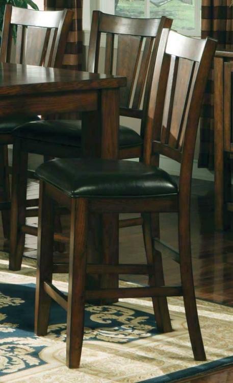 Fusion Counter Height Chair-Dark Oak