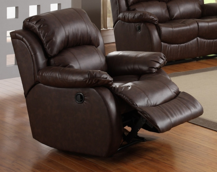 McGraw Rocker Recliner Chair in Bonded Leather - Homelegance