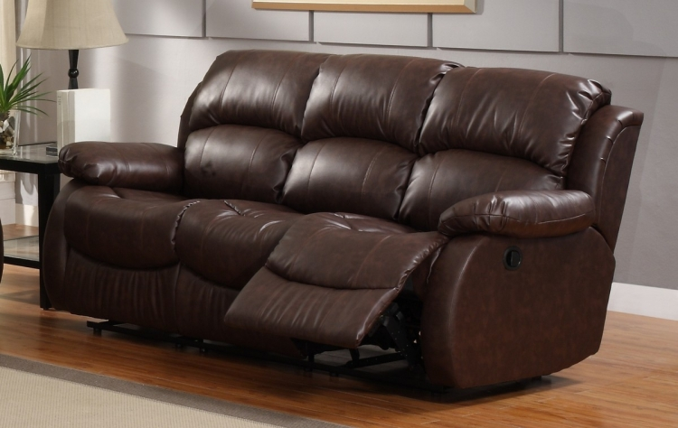 McGraw Motion Reclining Sofa in Bonded Leather - Homelegance