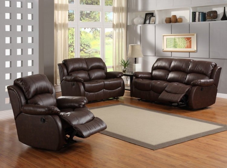 McGraw Motion Reclining Sofa Set - Homelegance