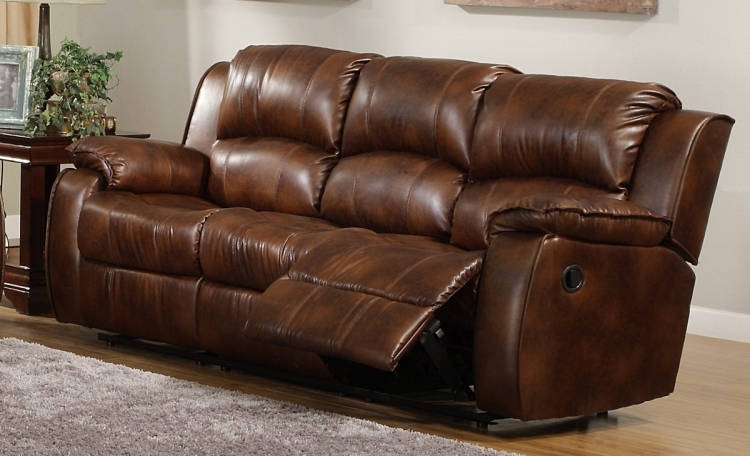 Smith Motion Reclining Sofa in Bonded Leather - Homelegance