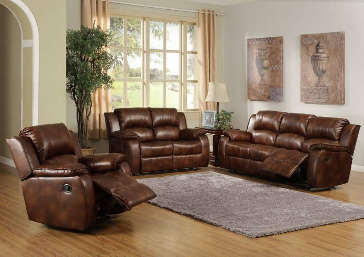 Smith Motion Reclining Sofa Set - Homelegance