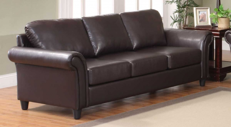Levan Sofa - Dark Brown Bi-Cast - Homelegance