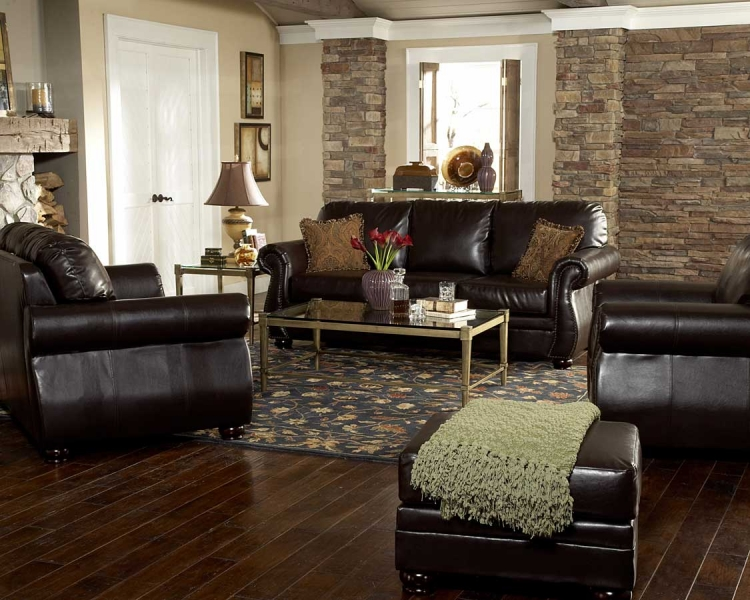 Wrangler III Sofa Set in Leatherette - Homelegance