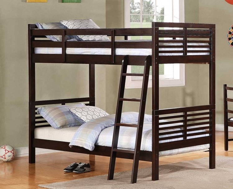 Paula II Bunk Bed - Dark Cherry - Homelegance