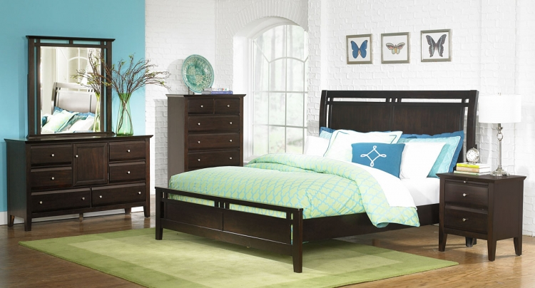 Canton Sleigh Bedroom Set - Homelegance