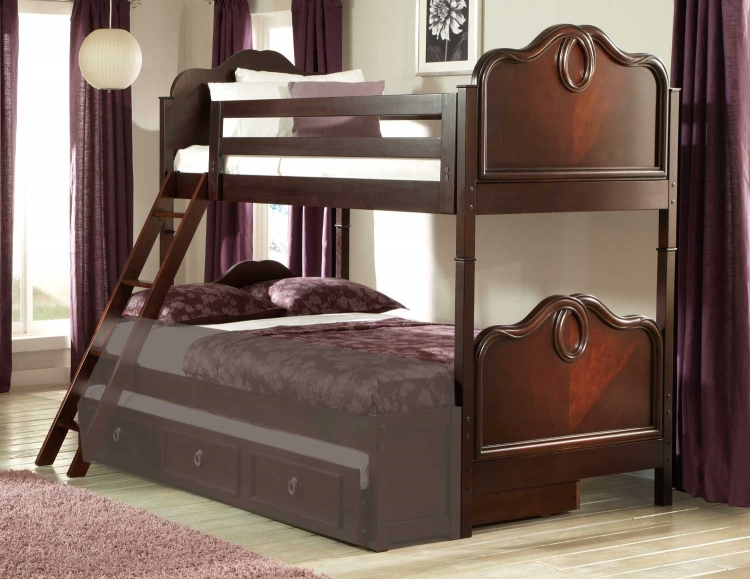Lund Bunk Bed - Rich Cherry - Homelegance