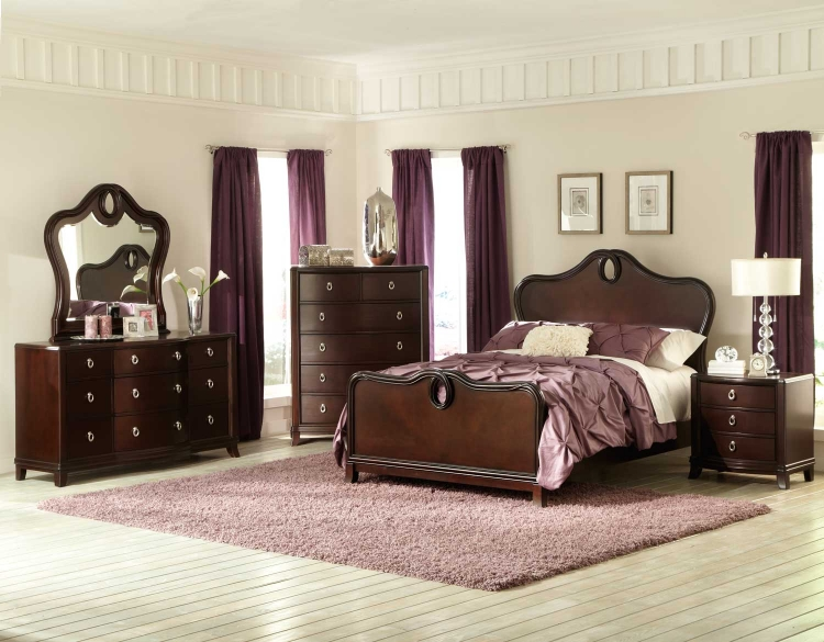 Lund Bedroom Set - Rich Cherry - Homelegance