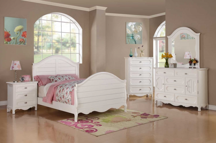 Hayley Bedroom Set - White - Homelegance