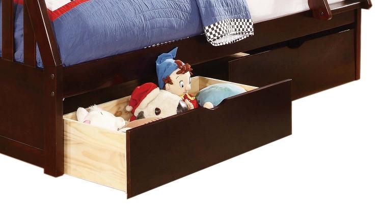 Homelegance Rowe Toy Boxes 1 Pair - Dark Cherry