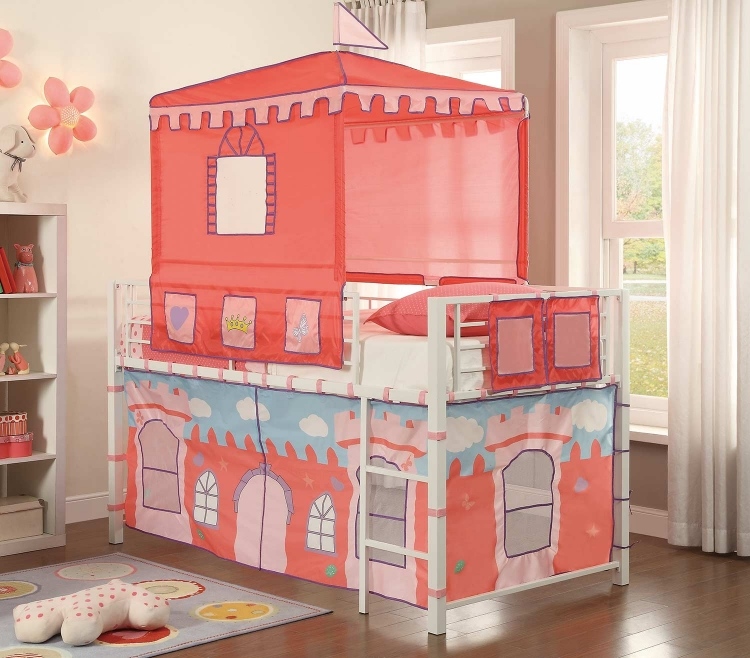 Guinevere Twin Loft Bed - Bright White