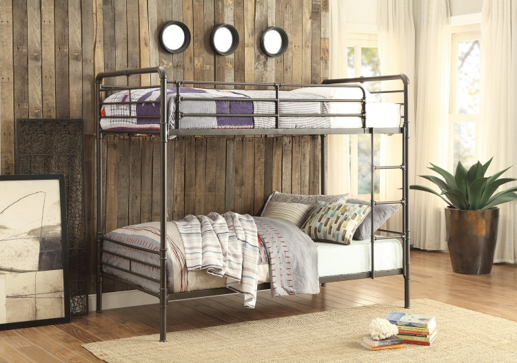 Chaney Twin/Twin Bunk Bed - Antique Bronze
