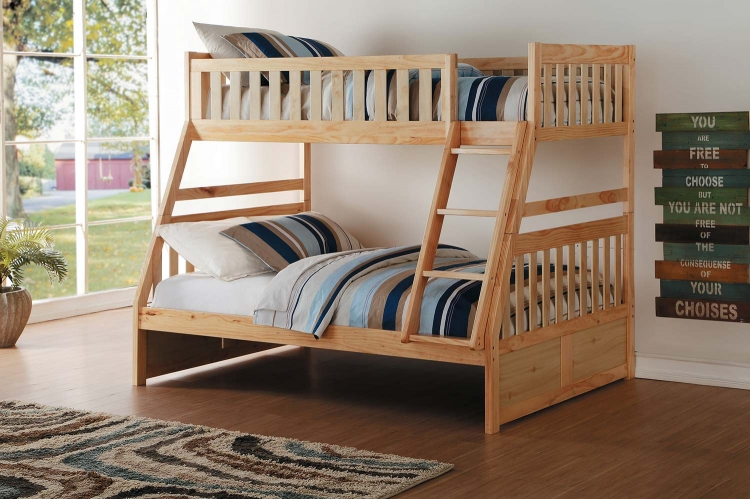 Bartly Twin over Full Bunk Bed - Natural Pine