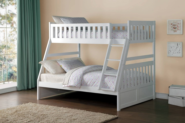 Galen Twin over Full Bunk Bed - White