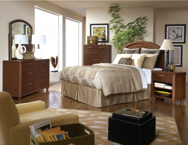 Beaumont Bedroom Set - Brown Cherry - Homelegance