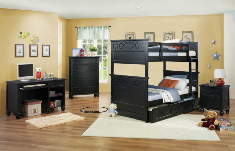 Sanibel Bunk Bedroom Set - Black