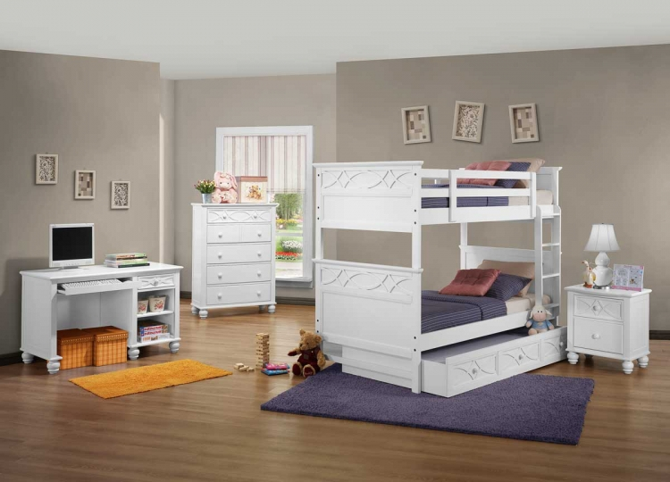 Sanibel Bunk Bedroom Set - White