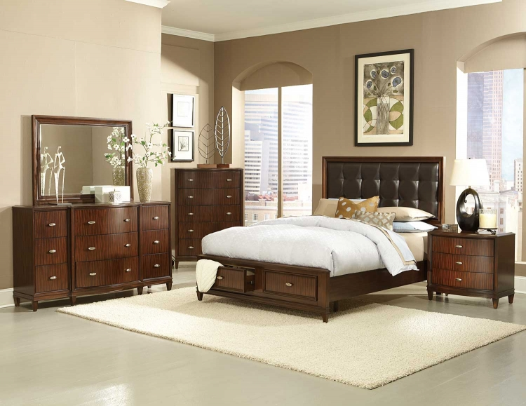 Abramo Platfrom Bedroom Set - Dark Brown - Homelegance