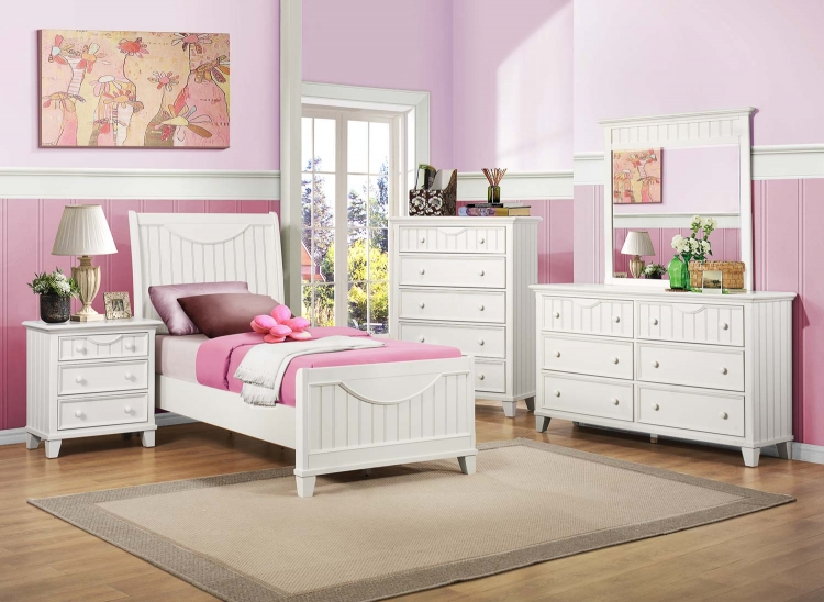 Alyssa Youth Bedroom Set - White
