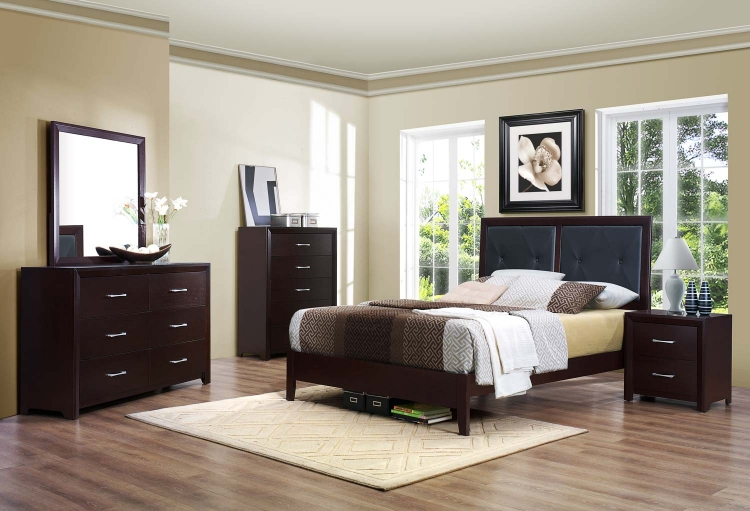 Edina Bedroom Set - Brown Espresso