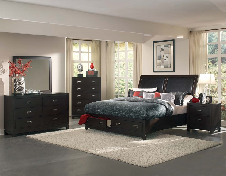 Lindley Platform Bedroom Set - Black - Homelegance