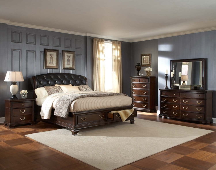 Wrentham Platform Bedroom Set - Dark Brown