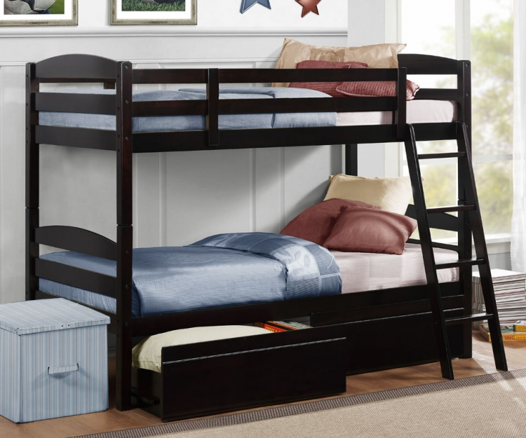 Exuberance Bunkbed with Storage - Homelegance