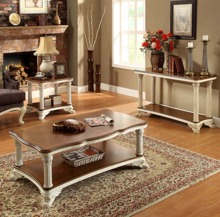 Casanova II Occasional Table Set - Antique White