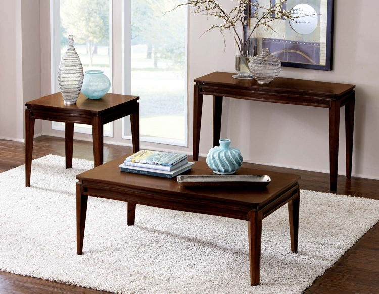 Kasler Occasional Table Set - Medium Walnut - Homelegance