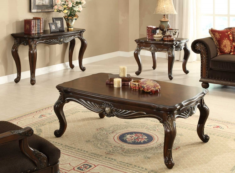 Catalina II Cocktail Table Set - Warm Cherry