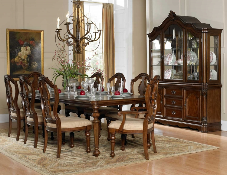 Montvail Dining Set - Warm Brown - Homelegance