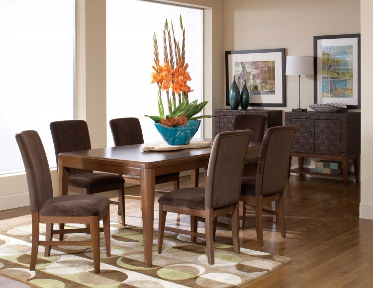 Beaumont Rectangular Dining Set - Brown Cherry