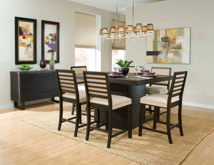 Miles Counter Height Dining Set - Dark Espresso - Homelegance