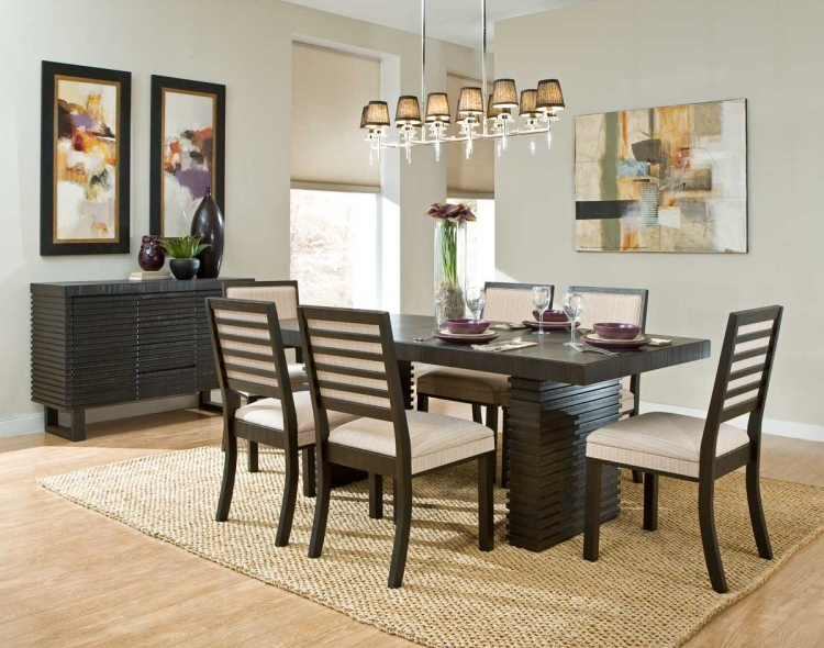 Miles Dining Set - Dark Espresso - Homelegance