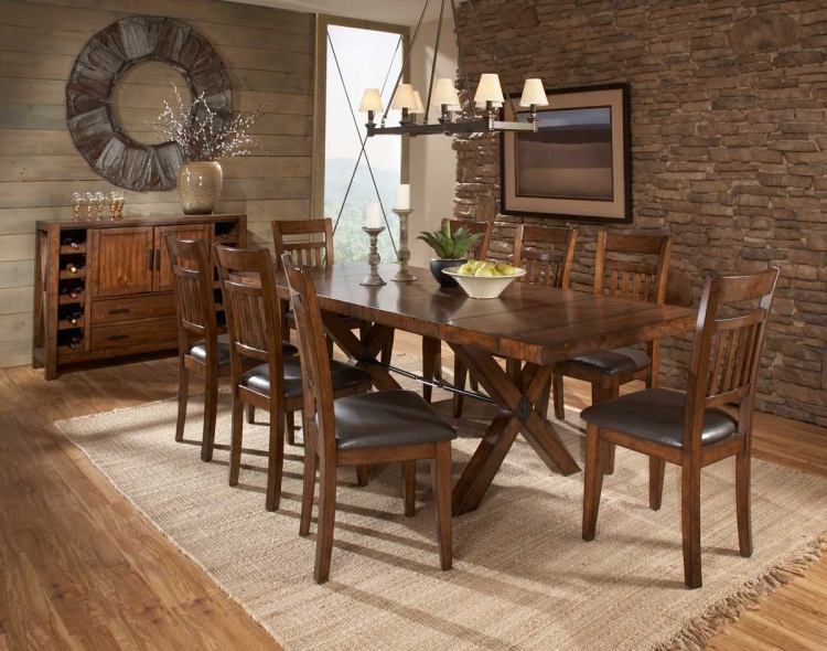 Vasquez Dining Set - Warm Oak - Homelegance