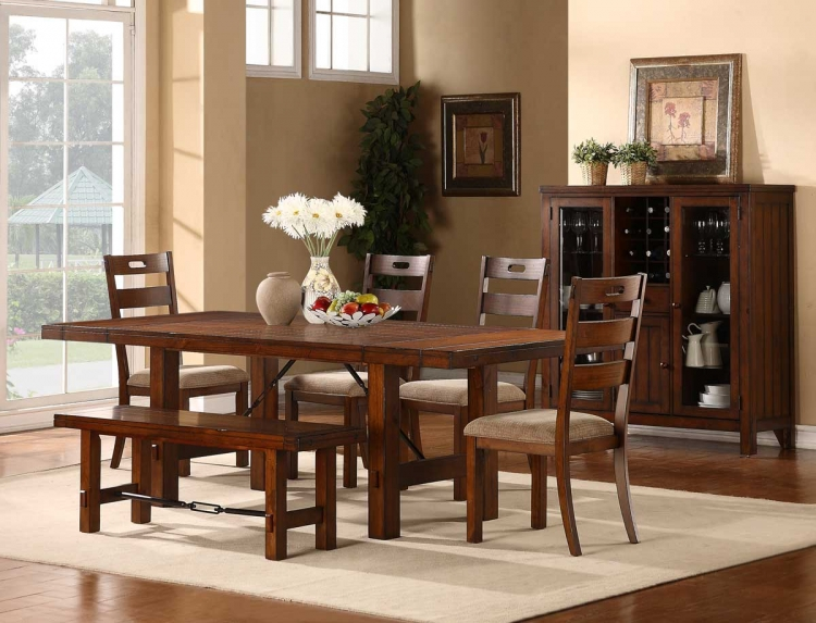 Clayton Dining Set - Dark Oak - Homelegance