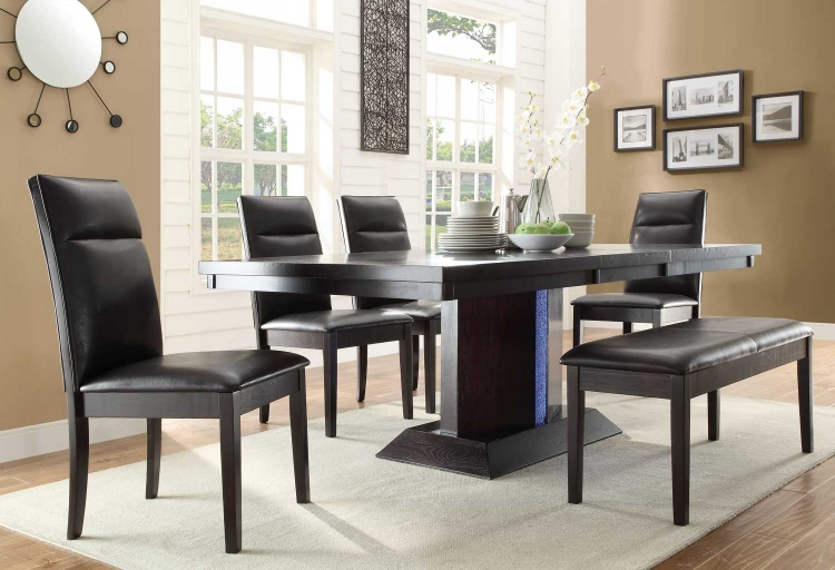 Pulse Dining Set with LED Light - Espresso�
