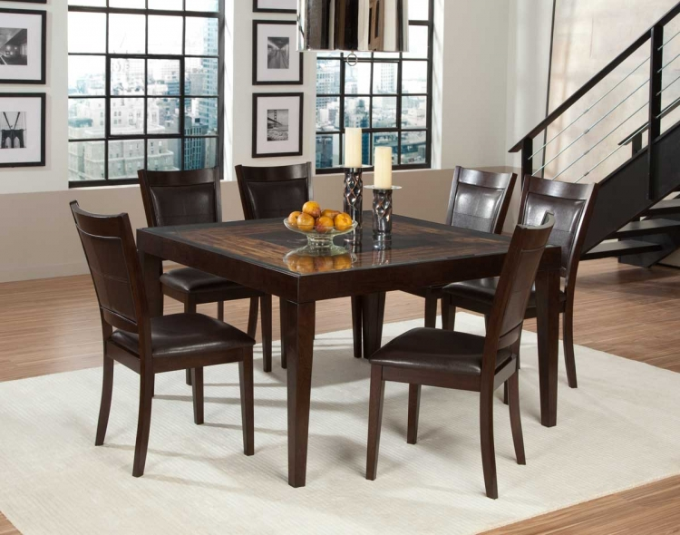 Vincent Square Dining Set - Mango and Acacia Wood - Homelegance