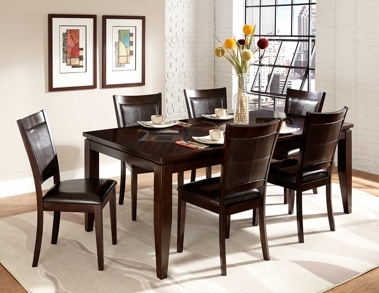 Vincent Dining Set - Espresso/Oak 2 Tone - Homelegance