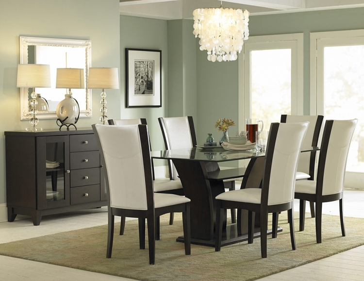 Daisy Rectangular Glass Dining Set - Homelegance