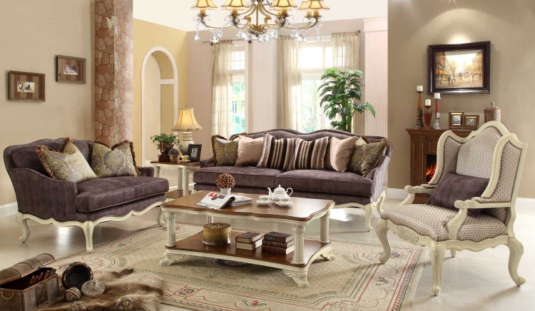Casanova II Sofa Set - Antique White - Homelegance