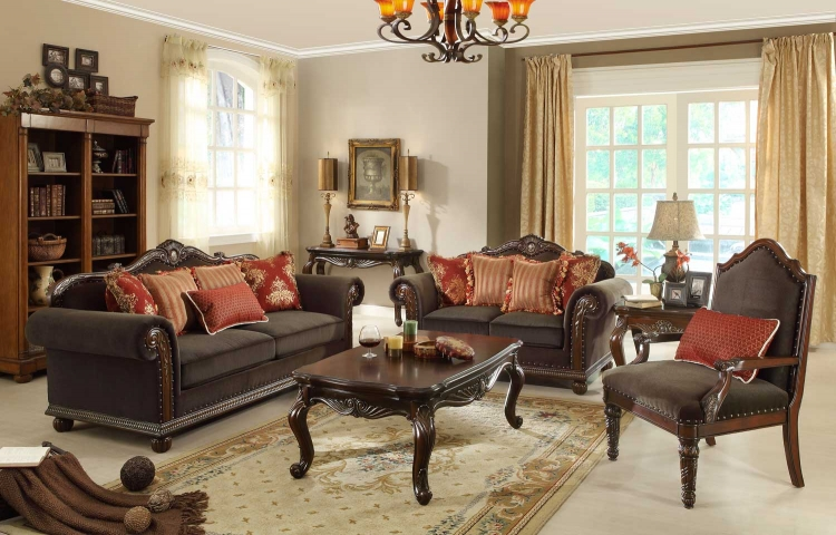 Catalina II Sofa Set - Chocolate