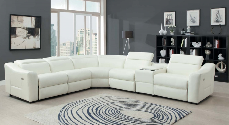 Instrumental Sectional Sofa Set - White - Bonded Leather Match