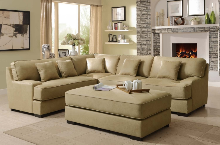Minnis Sectional Sofa Set - Beige - Homelegance