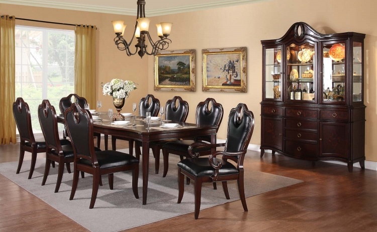 Agatha Dining Set - Rich Cherry - Homelegance