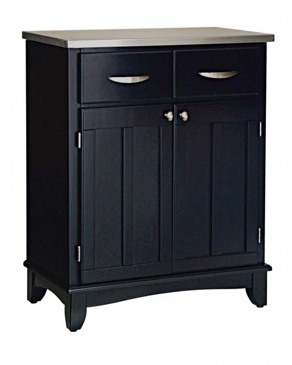 Black-Stainless Steel Top Buffet